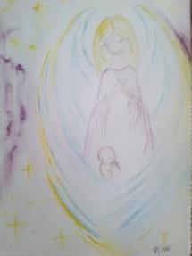 Anděl s miminkem