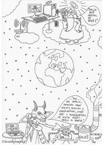 Karikatura_Bůh a dábel