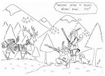 Karikatura_Myslivci