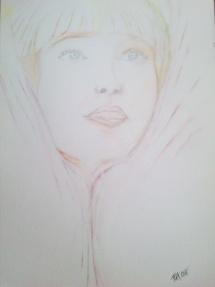 Maddie Ziegler akvarel