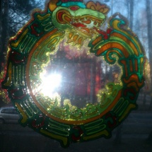 Malba na sklo Drak