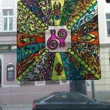 Malba na sklo_šaman