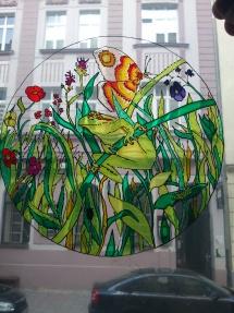 Malba na sklo_žába