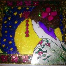 Malba na sklo_Geisha