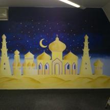 Malba na stěnu orient