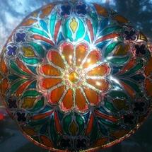 Malovani na sklo - rozeta